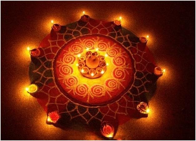 Round Rangoli Patterns for Diwali
