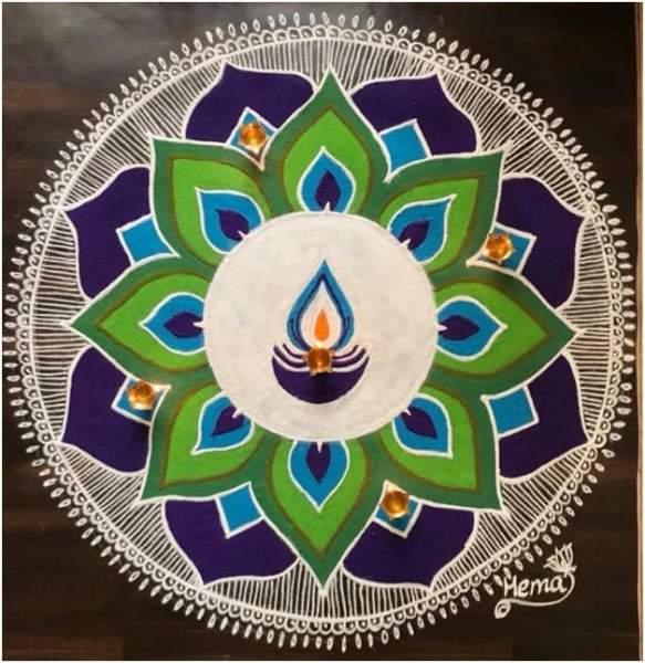 25 Beautiful Rangoli Designs For Diwali Deepavali 2020