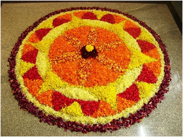 Pookalam Rangoli For Diwali