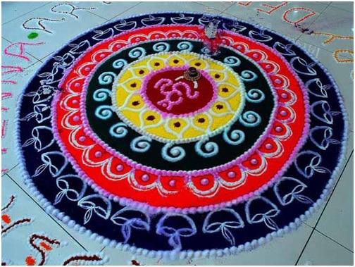 Om Diwali Rangoli