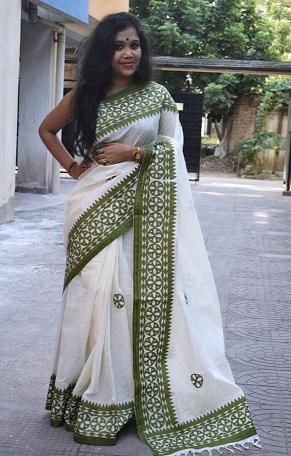 Bhagalpur Linen Saree