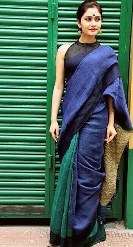 Hand-loom Linen Sarees