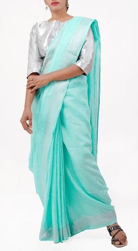 Plain Linen Sarees