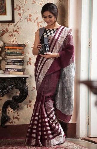 Roopkatha Linen Zari Saree