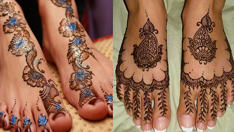 Trendy Foot Mehndi Designs with Pictures
