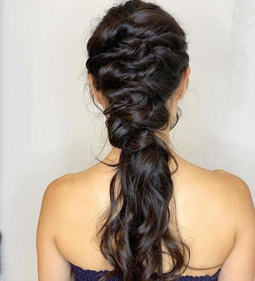 Messy Half Up and Half Down Hairdo