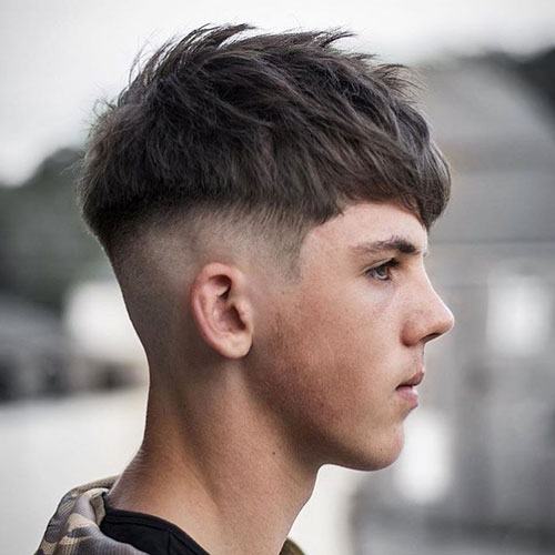 Mushroom Haircut That Has Sides Shaved and Also Has a Close Cut