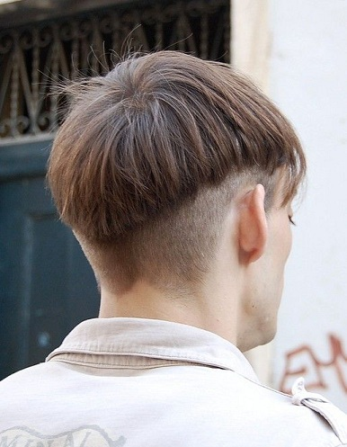 Mushroom Haircut with Back and Sides Closely Shaved and Long Front Hairs
