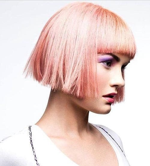 Short Funky Red Style with Bangs