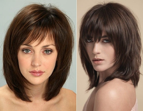 Shoulder Length Shaggy Hairstyle