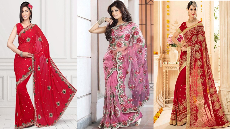 Try These 20 Gorgeous Embroidery Sarees For A Royal Look