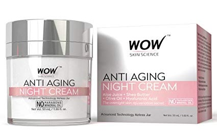 WOW Anti-Aging Parabens and Mineral Oil Night Cream