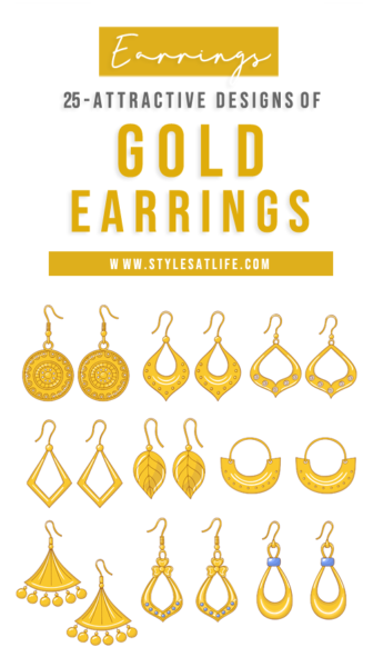 different gold earrings designs india