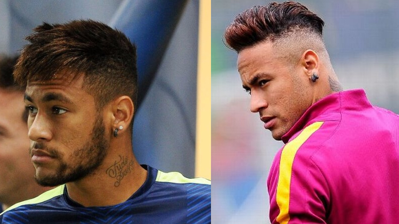 Amazing Hairstyles of the Famous Soccer Player Neymar