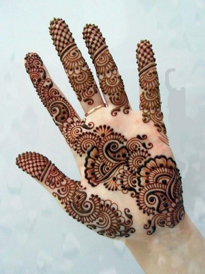 Floral Arabic Mehndi Design