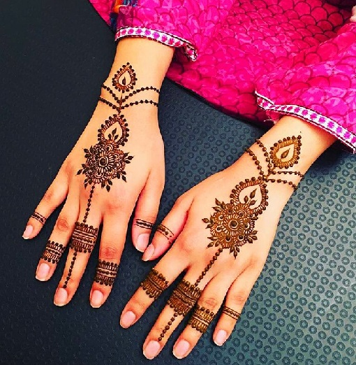 Jewelry Style Arabic Mehndi Design