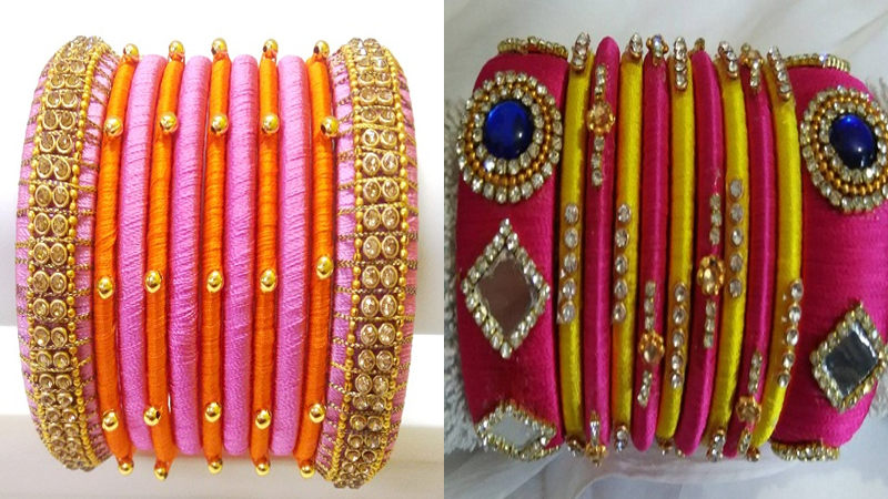Latest Collection of Silk Thread Bangles in 2019