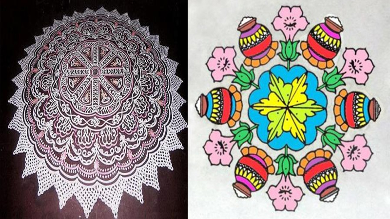 Latest Rangoli Designs for Sankranti Festival in 2019