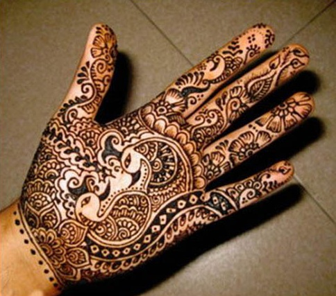 Traditional Mehndi Hands Teej Festival