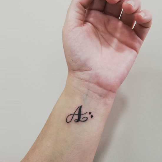 A Letter Tattoo Designs On Hand