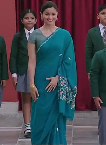 Alia Bhatt in Floral Saree