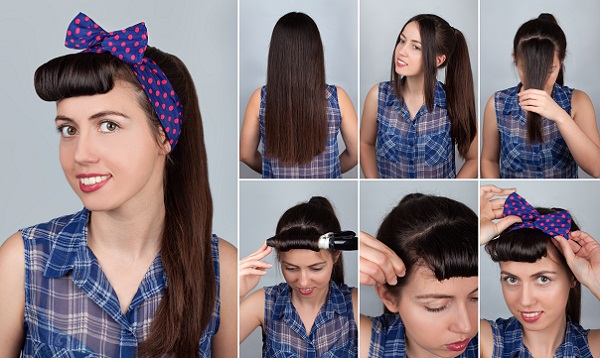 Pin up Style Ponytail