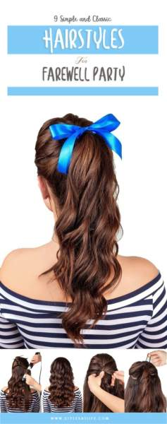 Hairstyles for Farewell Party