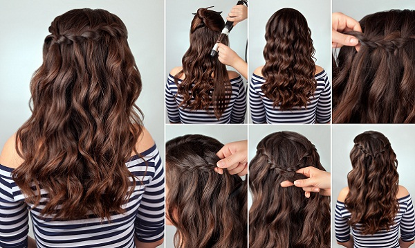Braided Hairstyle for Curly Hair