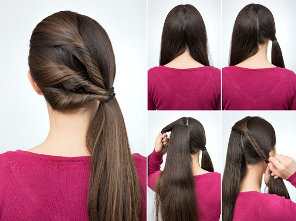 Ponytail with Twisted Hair