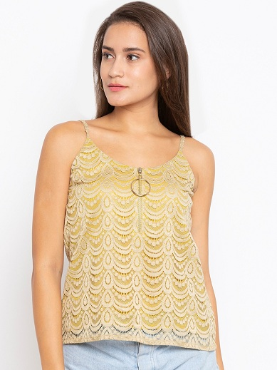 Lace Top With Shoulder Straps