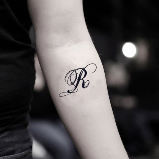 R Letter Tattoo Designs On Hand