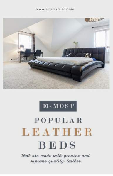 LEATHER BED DESIGNS