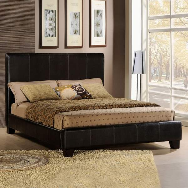 Headboard Leather Bed