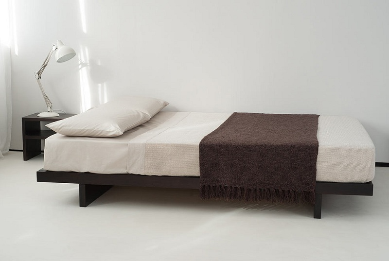 KUMO LOW WOODEN BED - WITHOUT HEADBOARD