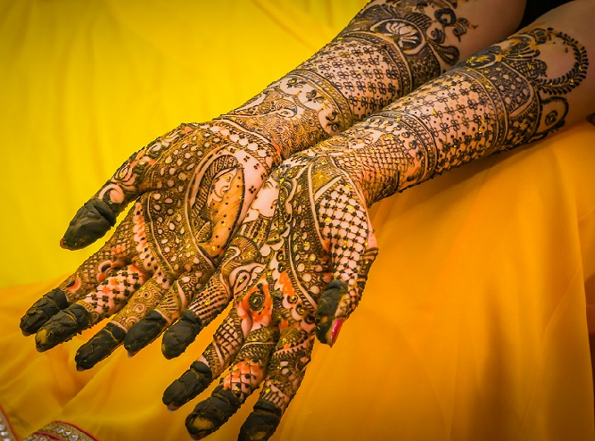 full hand bridal mehndi