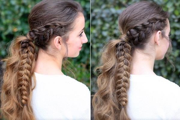 Half Braid Ponytail