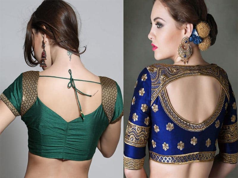 15 Traditional Blouse Back Neck Designs For Pattu Sarees Styles At Life