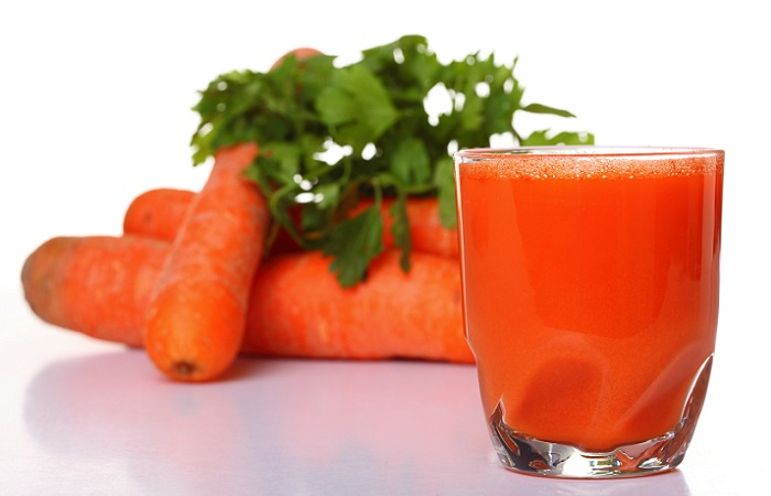 carrot juice for glowing skin