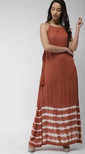Halter Neck A Line Maxi Dress