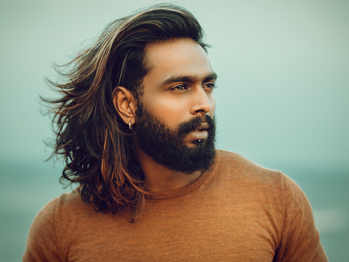 Long Hair with Beard and Mustache
