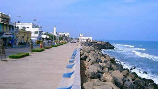 The Majestic Mahe Beach in Pondicherry