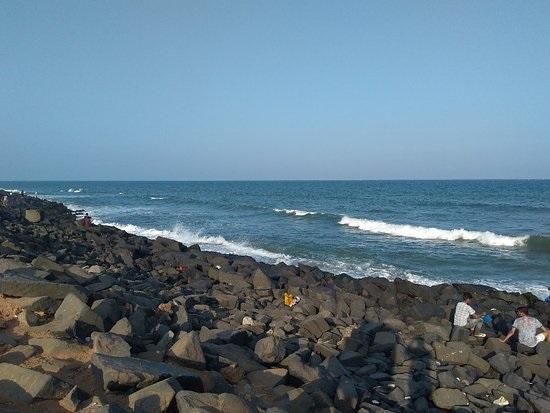 The Royal Rock Beach in Pondicherry