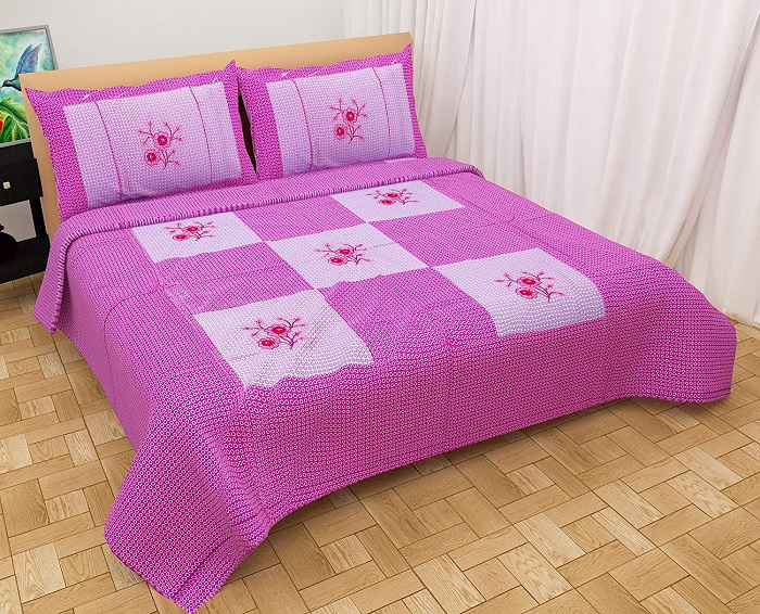 simple embroidery designs for bed sheets