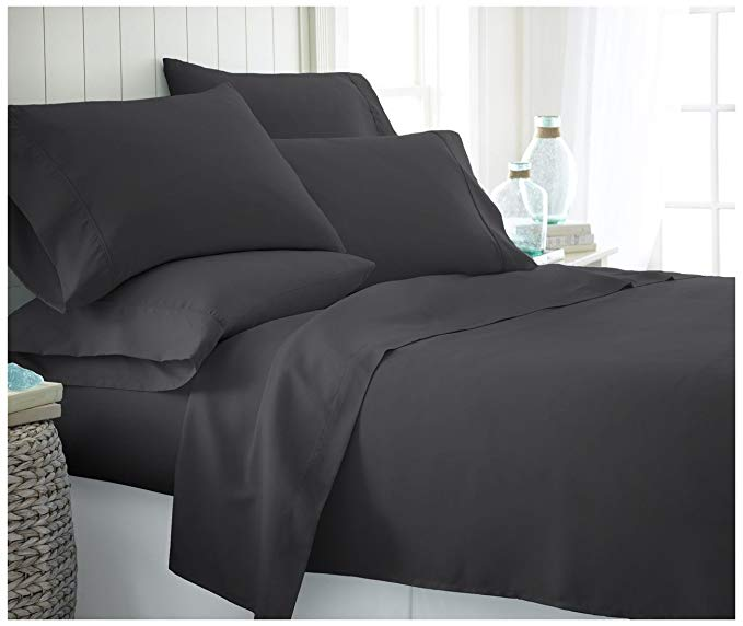 black single bed sheets