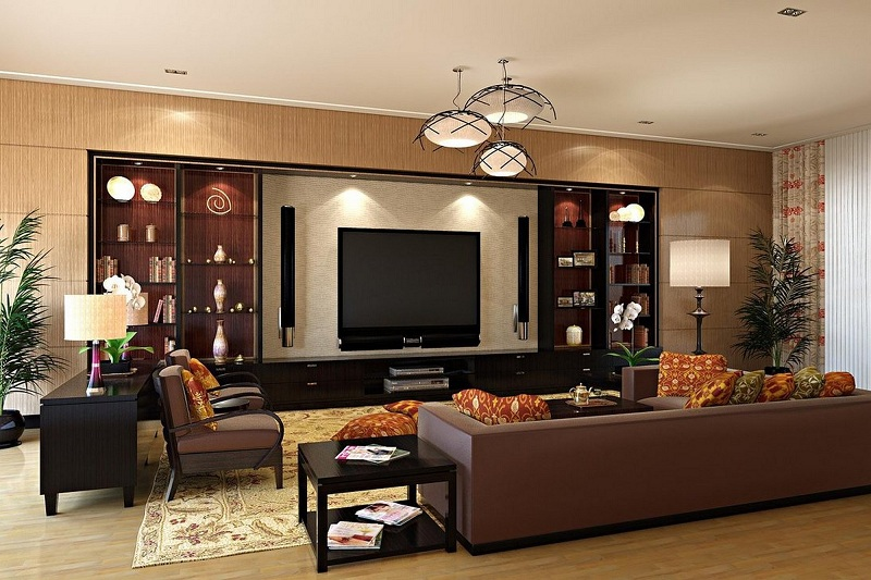 Simple Showcase Designs For Living room