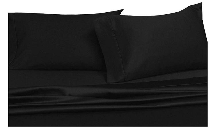 black sheets for bed