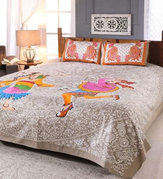 orange bed sheets
