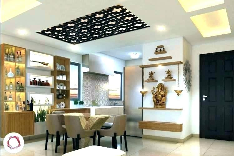 modular kitchen with pooja room