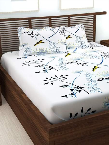 Simple white bed sheet designs