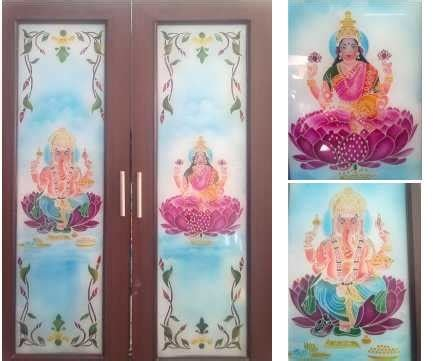 pooja room glass door models
